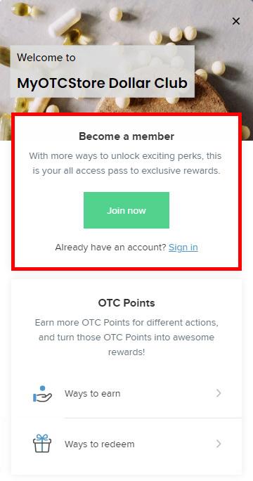 Join Reward Points